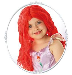 Ariel Hosszú Piros Paróka Gyerekeknek
