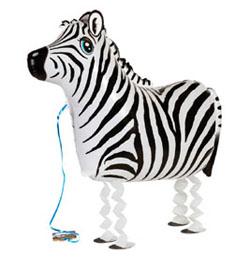 Sétáló Zebra Lufi