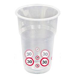 30-as Sebességkorlátozó Számos Szülinapi Műanyag Parti Pohár - 350 ml, 10 db-os