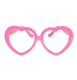 Rózsaszín Szív Alakú Szemüveg