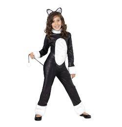 Fekete-Fehér Cica Jelmez Gyerekeknek, M-es