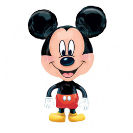 Mikiegér - Mickey Mouse Sétáló Fólia Lufi, 76 cm-es