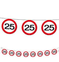 25-ös Sebességkorlátozó Szülinapi Parti Füzér - 12 m
