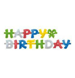 Happy Birthday Feliratos Füzér - 1,4 m