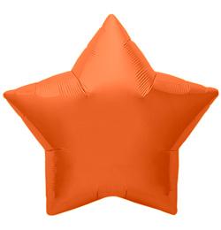 9 inch-es Orange Star - Narancssárga Csillag Fólia Lufi (5 db/csomag)