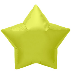 9 inch-es Citrine Yellow Star - Sárga Csillag Fólia Lufi (5 db/csomag)