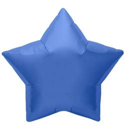 9 inch-es Periwinkle Star - Búzavirág Kék Csillag Fólia Lufi (5 db/csomag)