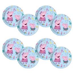 Peppa Malac - Peppa Pig Messy Play Parti Tányér - 23 cm, 8 db-os