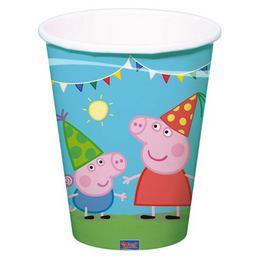 Peppa Pig Papír Parti Pohár - 8 db-os, 250 ml