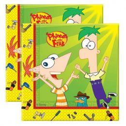 Phineas and Ferb Parti Szalvéta - 33 cm x 33 cm, 20 db-os