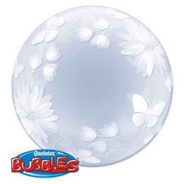 20 inch-es Butterflies & Flowers Deco Bubble Lufi
