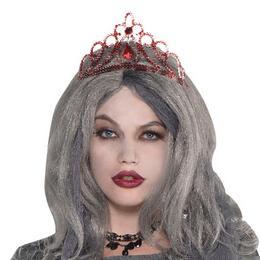 Piros Díszes Tiara Halloween-ra