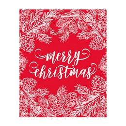 Piros-Fehér Merry Christmas Karácsonyi Ajándéktasak