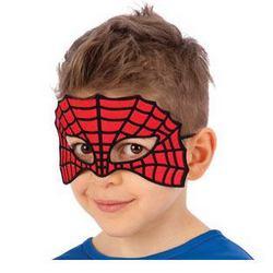 Piros - Fekete Csillámos Pókháló Szemmaszk Gyerekeknek Halloween-ra