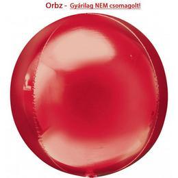 Piros - Red Orbz Fólia Lufi