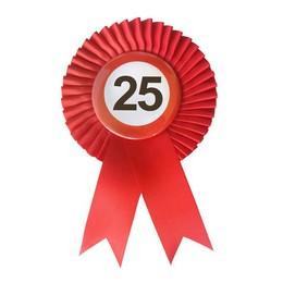Piros Szalagos 25-ös Sebességkorlátozó Szülinapi Számos Parti Kitűző