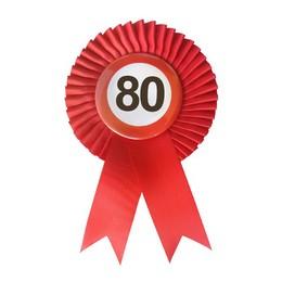Piros Szalagos 80-as Sebességkorlátozó Szülinapi Számos Parti Kitűző