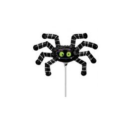 Pók - Striped Spider Minishape Fólia Lufi (5 db/csomag)