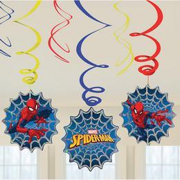 Pókember Spirális Függő Dekoráció - 6 db-os