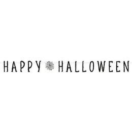 Pókháló Mintás Parti Betűfüzér Halloween-ra - 180 cm
