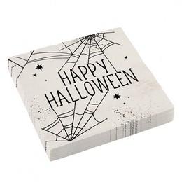Pókháló Mintás Parti Szalvéta Halloween-ra - 33 cm x 33 cm, 16 db-os