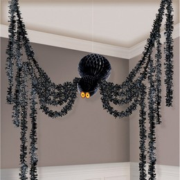 Pókos Függő Parti Dekoráció Halloween-re, 360 cm-es