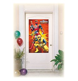 Power Rangers Parti Ajtódekoráció