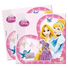 Princess Glamour - Hercegnők Parti Szalvéta - 33 cm x 33 cm, 20 db-os