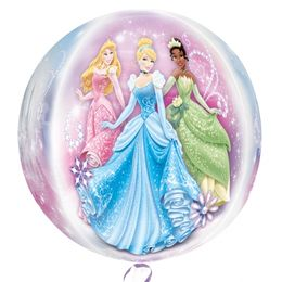 Princess - Hercegnők Ultra Shape Orbz Fólia Lufi