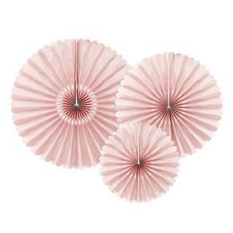 Halvány Rózsaszín Rozetta Dekoráció - 3 db-os