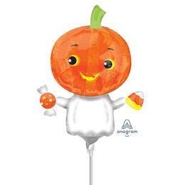 Pumpkin Ghost - Tökfej Szellem Mini Shape Fólia Lufi (5 db/csomag)