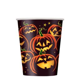 Pumpkin Grin Parti Pohár Halloweenre - 270 ml, 8 db-os