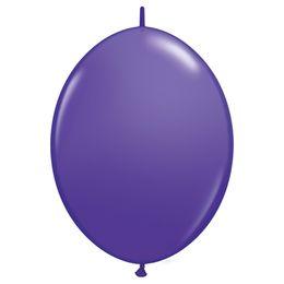 12 inch-es Purple Violet Quick Link (Fashion) Lufi (50 db/csomag)