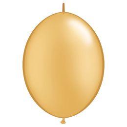 12 inch-es Metallic Gold Quick Link Lufi (50 db/csomag)
