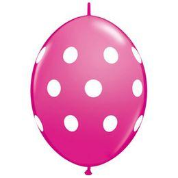 12 inch-es Big Polka Dots Wild Berry Quick Link Lufi (50 db/csomag)