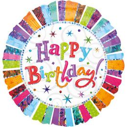 Radiant Happy Birthday Jumbo Szülinapi Fólia Lufi