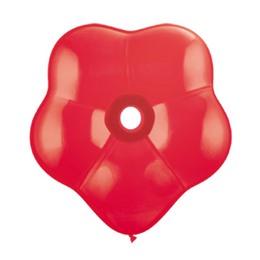 16 inch-es Red (Standard) Blossom Lufi (25 db/csomag)
