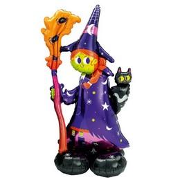 Rémisztő Boszi - Airloonz Fólia Lufi Halloween-re