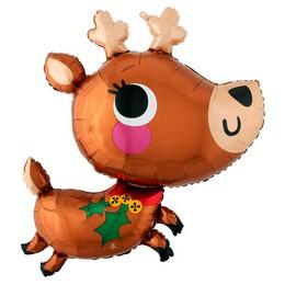Rénszarvas - Adorable Reindeer Super Shape Fólia Lufi