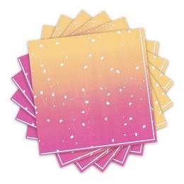Rose Gold Ombre Színű Parti Szalvéta - 33 cm x 33 cm, 16 db-os