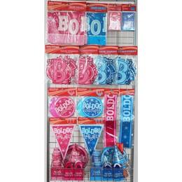 Rózsaszín és Kék Szülinap Parti Csomag