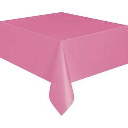 Hot Pink Műanyag Parti Asztalterítő - 137 cm x 274 cm