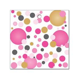 Rózsaszín Pasztell Konfettis Környezetbarát Léggömbsúly - 16 gr. (10 db/csomag)