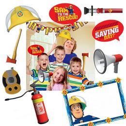 Fireman Sam - Tűzoltó Kellékek Pálcán Fotózáshoz - 9 db-os