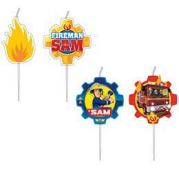 Fireman Sam - Tűzoltó Parti Gyertya Szett - 4 db-os