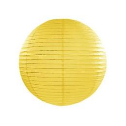 Sárga Világító Gömb Lampion - 25 cm