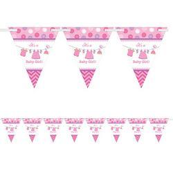 Shower With Love Pink Zászlófüzér Babaszületésre - 4 m