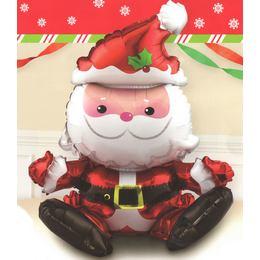 Sitting Santa - Ülő Mikulás Fólia Lufi