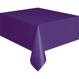 Deep Purple Műanyag Parti Asztalterítő - 137 cm x 274 cm