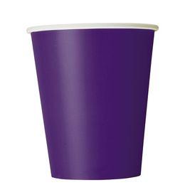 Deep Purple Papír Parti Pohár - 270 ml, 8 db-os